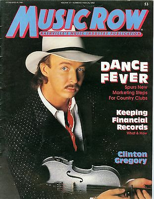 Clinton Gregory cover Music Row magazine 1992