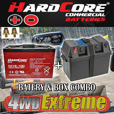 Power Battery Box 12V 100Ah Projecta Bpe330,deep Cycle Agm Dual Hardcore
