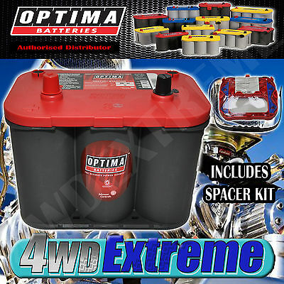 Optima 34 Red Top Battery 12 Volt New Agm 800Cca High Performance Start Starting