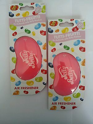 3D Jelly Belly 'TUTTI FRUITTI' X2 Jelly Bean Car Air Freshener AUTHENTIC