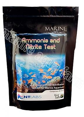 Nt Labs Marine Ammonia & Nitrite Test Kit, Reef Safe, Coral, Sump, Fish Aquarium