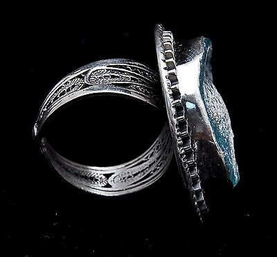 Roman Glass Ring Sterling Silver 925 Authentic & Luxurious with Certificate.
