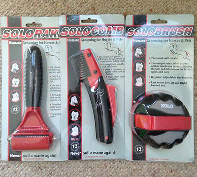 Solo Comb/Solo Rake/Solo Brush thinning pulling Horse Dog  Solocomb Solorake Pet