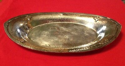 Antique W.M. Mounts Hand Beaten Derby SP Co & International EPNS Fruit Tray~ NR