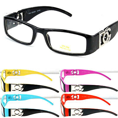 New DG Clear Lens Rectangular Frame Glasses Designer Optical RX Womens Nerd Mens