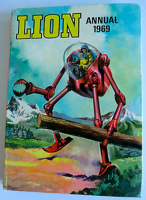 Rare Vintage Uk Book- Lion Annual 1969 - Unclipped - Robot Archie/texas Jack Etc