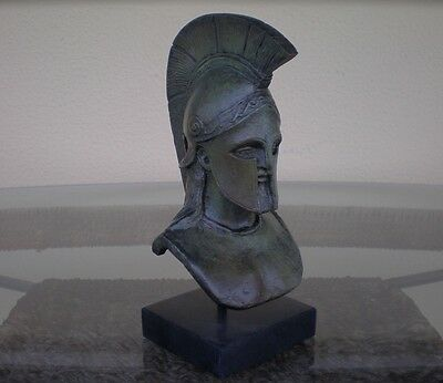 Leonidas King Of Spartans Bronze Bust -Battle of Thermopylae -HandMade in Greece
