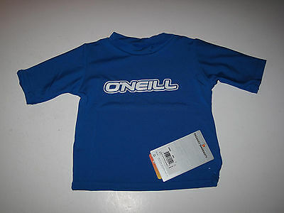 O'Neill Toddler Boys 1 Yr Short Sleeve Skins Rashguard Rash Guard UV Shirt Blue