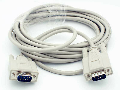 25Ft. DB9 Serial RS-232 Male to Male Straight-Thru Cable (25 Feet) MEC-25MM