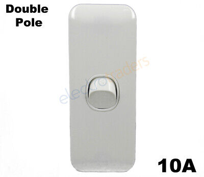 1 Gang Architrave Light Switch Wafer Series Double Pole Caravan RV