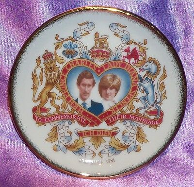 Estate Collectable ~ Charles Diana Westminster Wedding Pin Dish ~ Vintage