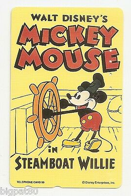 JAPON - TELECARTE n° 110-188239 - DISNEY / MICKEY MOUSE IN STEAMBOAT WILLIE