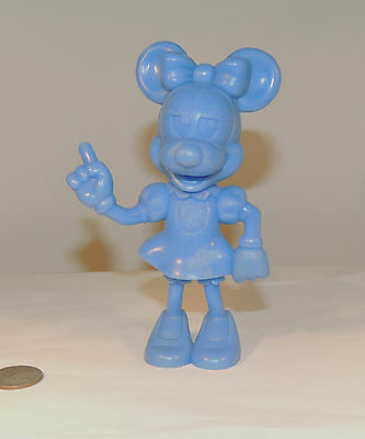 Blue Minnie Mouse Plastic 1972 Disney Figurine over 5 inches tall (4691)