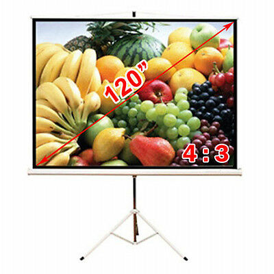 """Antra® 120"""" Tripod Compact Portable Projector Projection Screen 4:3 Matte White"""