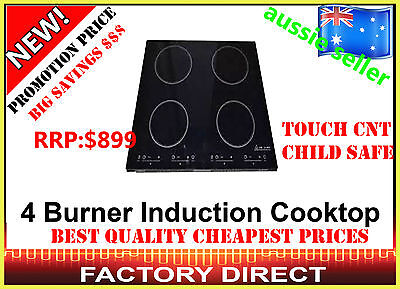New 4 Burner Ceramic Glass Induction Cooktop *on Special* Rrp$899 Save