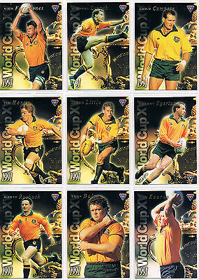 1995 futera 1991 WORLD CUP XV  complete set 15 WC1 to WC15