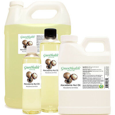 Macadamia Nut Carrier Oil (100% Pure/Natural) SHIPS FREE