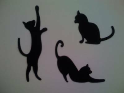Black Cats silhouette die cuts for toppers