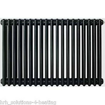 Jet Black & Grey 3 Column Radiators Traditional Cast Iron Style Radiator Range