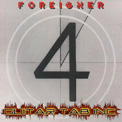 Foreigner Guitar Tab 4 Lessons on Disc four