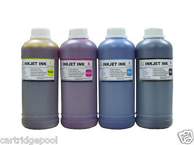 Half gallon 4 pint  b/c/m/y ink kit refill any printer HP Dell canon Lex Brother