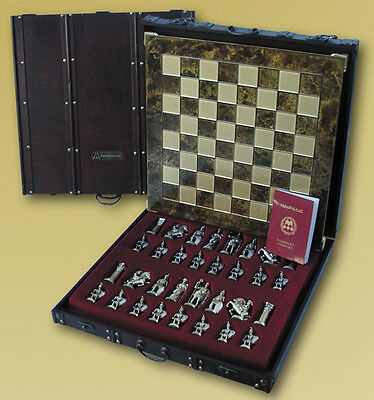 Manopoulos Romans Small Chess Set Package - Red Board