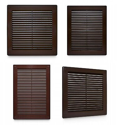 Brown Air Vent Grille Wall Ceiling Door Wardrobe Furniture Ventilation Cover
