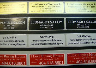 "Printed Labels, 500 Custom Rectangle 3/4"" x 2"" Business Stickers 1 Color Seals"