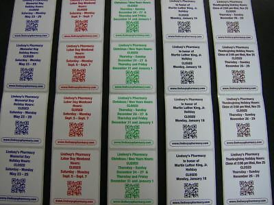 "Custom Printed Labels, 500 Rectangle 2.5"" x 4"" Business Stickers, 1-Color ink"