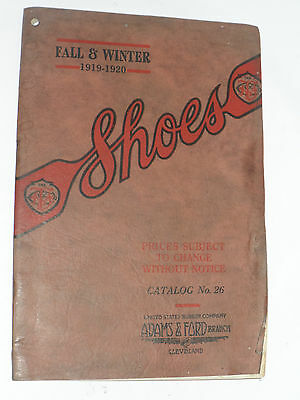 VINTAGE 1919-20 F&W WHOLESALE SHOE CATALOG-US RUBBER KEDS! BOOTS/SLIPPERS/PRICES