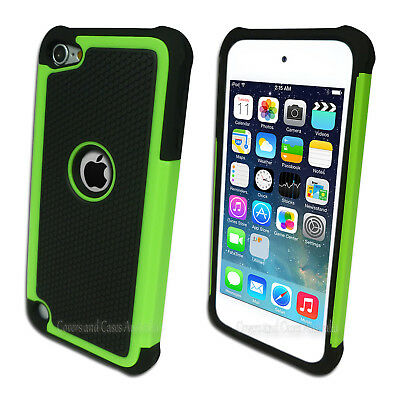 Green Black Tough Impact Case for Apple iPod Touch 5 5th Gen 5G Cover