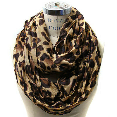 Leopard Infinity Scarf Style Women Girl's Shawl Wrap Stole Lady Neckerchief NEW