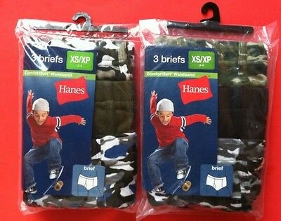 Hanes 6pk Boy's Color Briefs - Assorted Sizes & Colors BACK TO SCHOOL