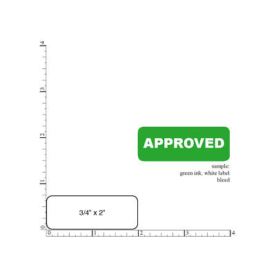 """Printed Stickers  3/4"""" x 2"""" Rectangle, 2000 Custom Business Labels,  1-Color ink"""