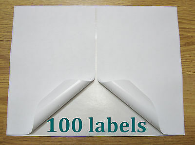 """100 Shipping Labels Self Adhesive Printer Paper Paypal Ebay Postage 8.5"""" x 5.5"""""""