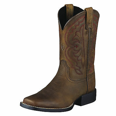 ARIAT - Kid's Western Quickdraw Boot - Distressed Brown - 10004853 - NEW