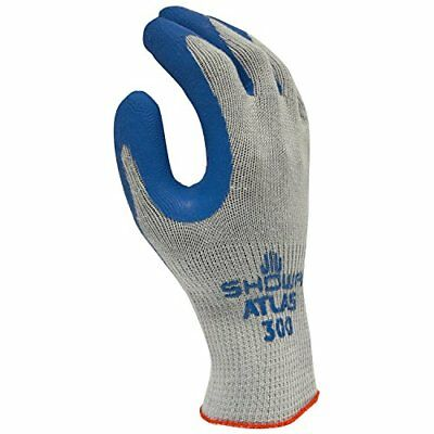 12 Pair/1 Doz. Atlas Fit Rubber Coated Gloves Showa 300 Size Large *Free US Ship