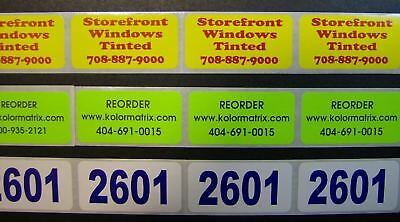 "5,000 Printed Stickers, .5"" x 1.5"" Custom Rectangle Business Labels, 1-Color"