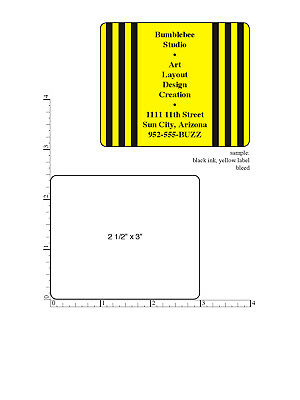 "Custom Printed Stickers 5,000 Rectangle Business Labels 1-ink color, 2.5"" x 3"""