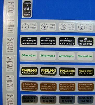 """10,000 Printed Labels  .75"""" x 2""""  Custom Business Rectangle Stickers 1-Color Ink"""