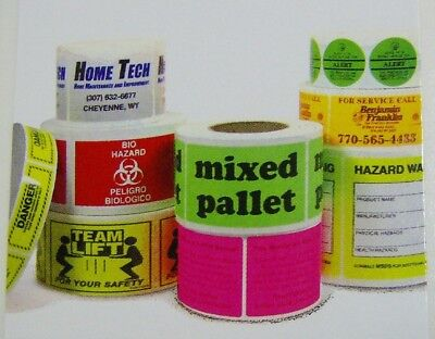 "Printed Stickers, 10,000 Custom 1"" x 3"" Rectangle Business Labels, 1-Color Rolls"