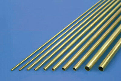 "K & S Round Brass Metal Tube 12"" Long Pk6 (Various Diameters Available)"