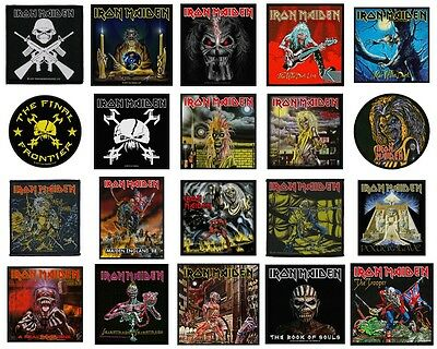 Iron Maiden Sew On Patch/Patches NEW OFFICIAL. Choice of 21 Designs