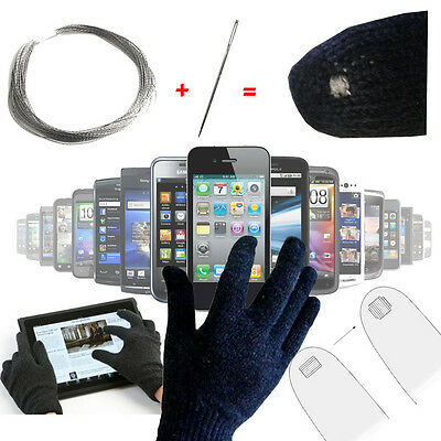 8 Feet Conductive Thread For DIY Capacitive Gloves For Cellphones and Tablets