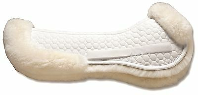 Mattes GOLD Wool Half Pad w/REAR TRIM - All Purpose or Dressage - Black or White