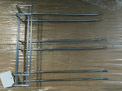 GLASS RACK TRIPLE PRONG Hanger Holder Wine Bar 27cm x 22cm
