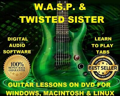 Twisted Sister 67 & Wasp 81 Guitar Tabs Software Lesson CD 20 Backing Tracks