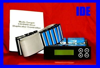 NEW!! 1-7 target IDE DVD CD duplicator controller with cables and booklet.