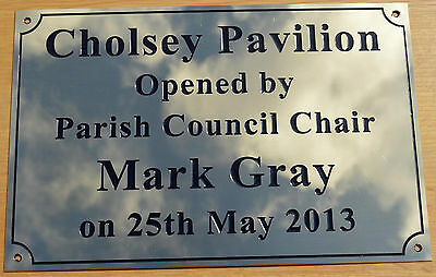 """Engraved Solid Polished Brass 8""""x6"""" Plaque Plate Sign Bench Memorial Pet +Screws"""