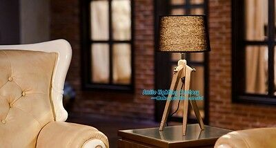 Country Sytle Wooden Lamp,Contemporary Creative ,Sitting Room Tripod Table Light